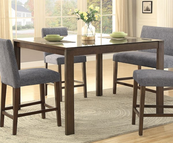 Home Elegance Fielding Brown Black Counter Height Table HE-5525-36