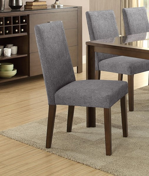 2 Home Elegance Fielding Brown Grey Side Chairs HE-5525DGS