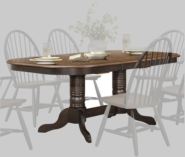 Home Elegance Cline Double Ped Table HE-5530-78