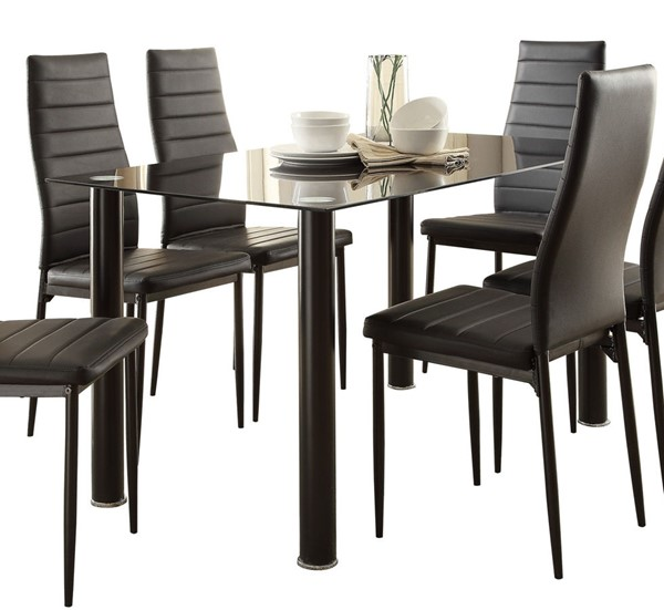Home Elegance Florian Black White Dining Tables HE-5538-DT-VAR