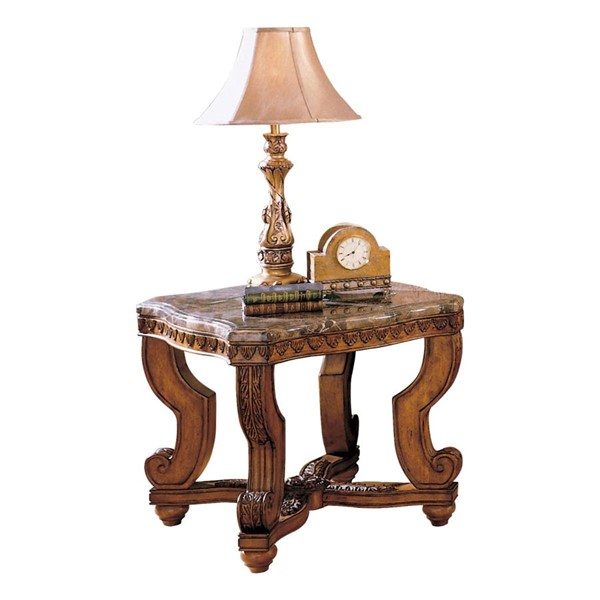 Home Elegance Tarantula End Table with Marble Top HE-5543-04