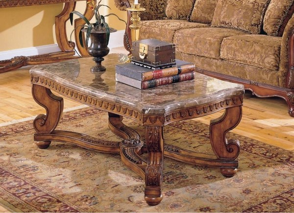 Home Elegance Tarantula Cocktail Table with Marble Top HE-5543-30