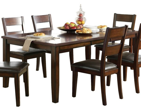Home Elegance Mantello Cherry Dining Table HE-5547-78