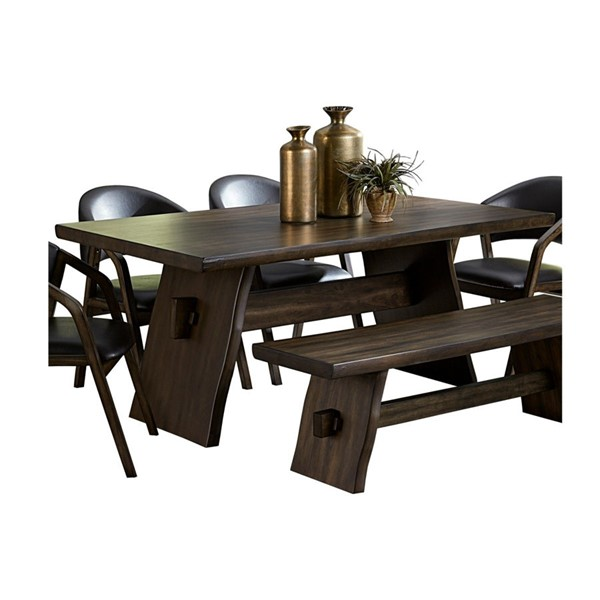Home Elegance Cabezon Dark Brown Dining Table HE-5555-72