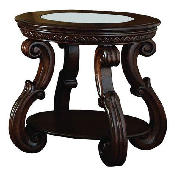 Home Elegance Cavendish Cherry End Table HE-5556-04