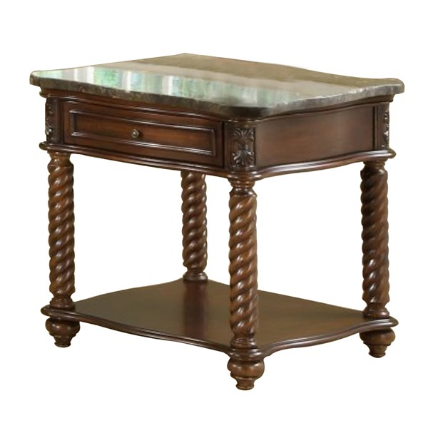 Home Elegance Lockwood End Table with Marble Top HE-5560-04