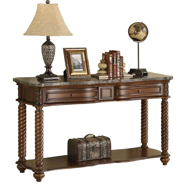 Home Elegance Lockwood Sofa Table with Marble Top HE-5560-05