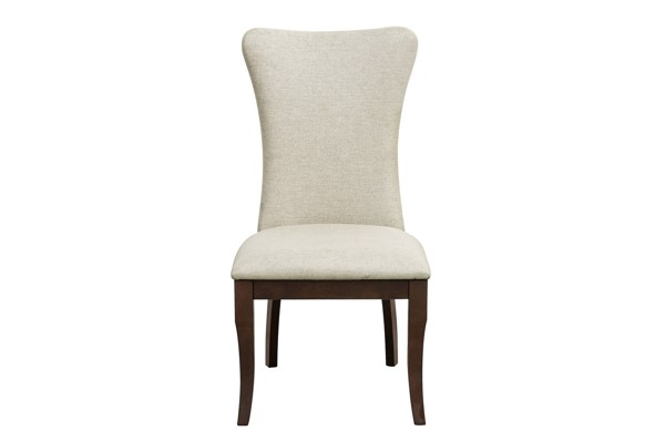 2 Home Elegance Oratorio Cherry Neutral Side Chairs HE-5562S