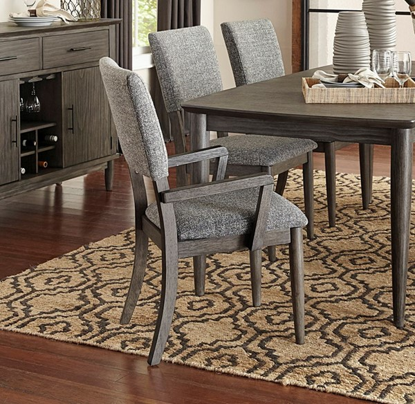2 Home Elegance Roux Gray Arm Chairs HE-5568A