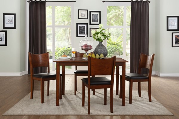 Home Elegance Lulea Cherry Brown 5pc Dinette Set HE-5573