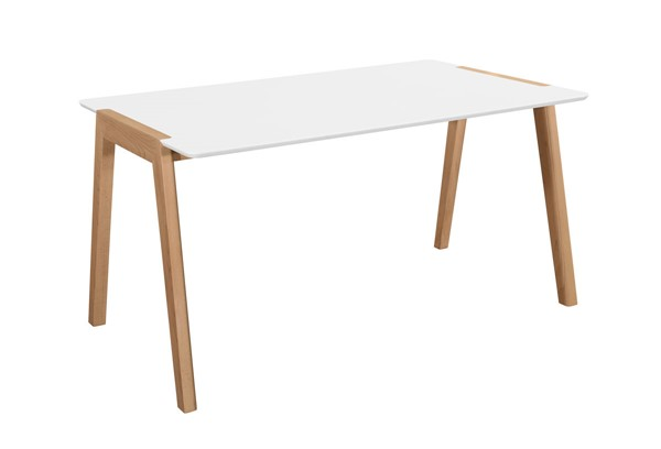 Home Elegance Misa White Natural Dining Table HE-5575