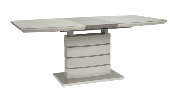 Home Elegance Glissand Gloss White Dining Table HE-5599-71