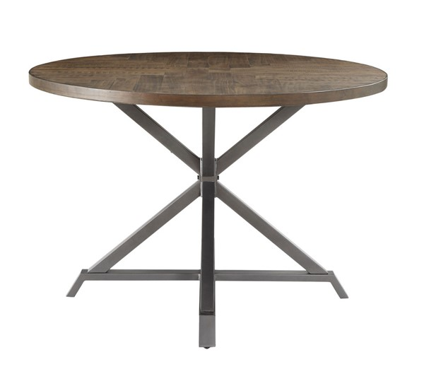 Home Elegance Fideo Burnished Gray Round Dining Table HE-5606-45RD
