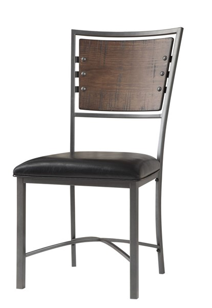 2 Home Elegance Fideo Burnished Gray Side Chairs HE-5606S