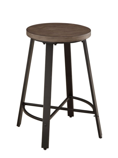 2 Home Elegance Chevre Burnished Counter Height Stools HE-5607-24