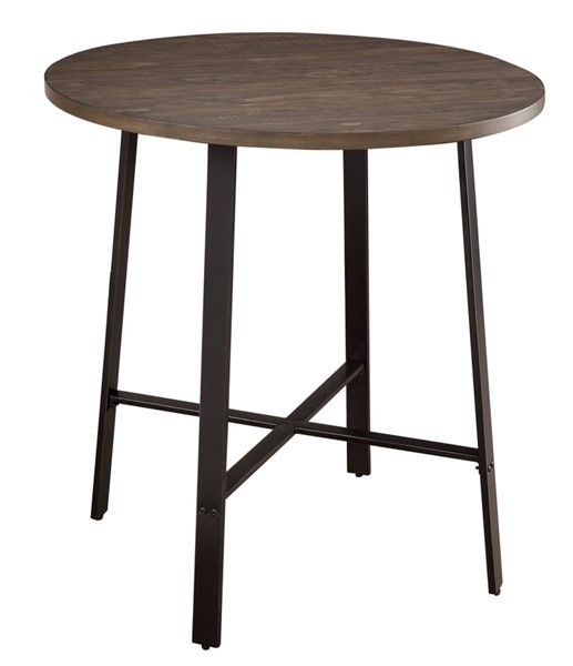 Home Elegance Chevre Burnished Round Counter Height Table HE-5607-36RD