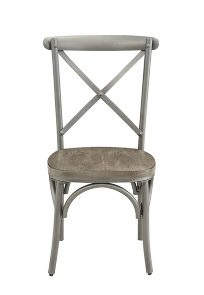 2 Home Elegance Springer Ash Gray Side Chairs HE-5608S