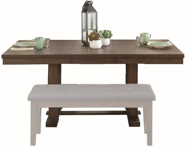 Home Elegance Wieland Dark Brown Dining Table HE-5614-72