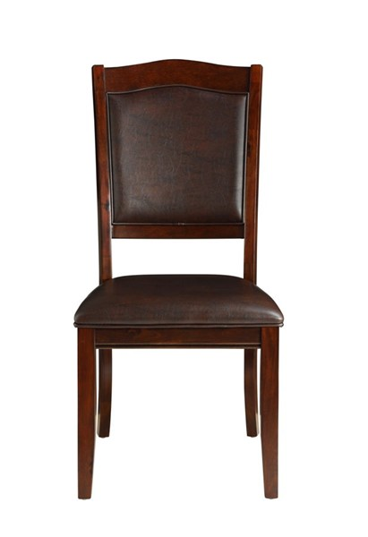 2 Home Elegance Whitby Dark Cherry Brown Side Chairs HE-5617S