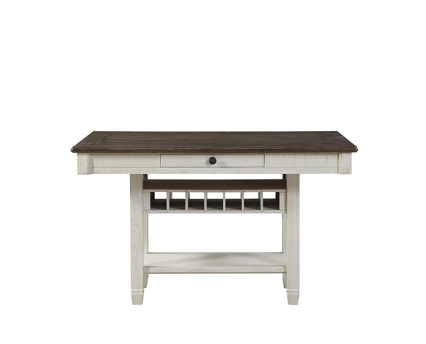 Home Elegance Granby Antique White Brown Counter Height Table HE-5627NW-36