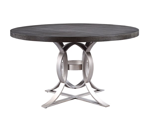 Home Elegance Standish Gray Round Table HE-5642GY-54
