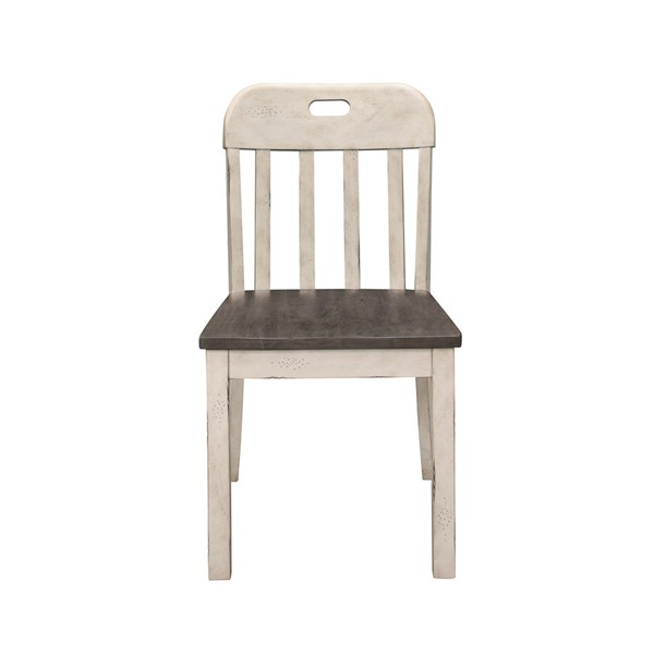 2 Home Elegance Clover Antique White Gray Side Chairs HE-5656S