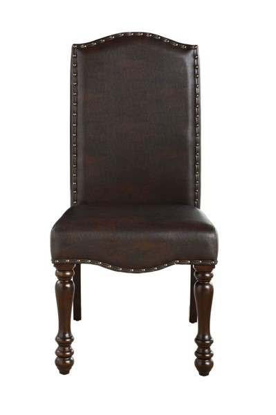 2 Home Elegance Hargreave Dark Cherry Brown Side Chairs HE-5657S