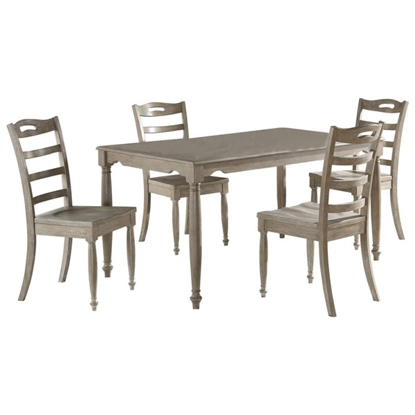 Home Elegance Gilman Light Gray 5pc Dining Set HE-5661