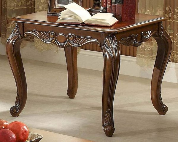 Lambeth II Traditional Rich Cherry Wood End Table HE-5669NF-04