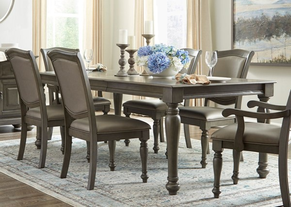 Home Elegance Summerdale Gray Dining Table HE-5673GY-84