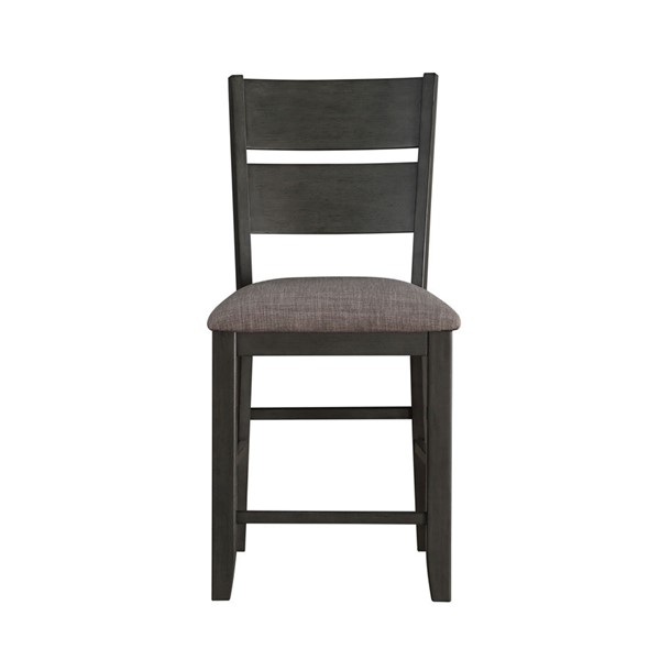 2 Home Elegance Baresford Gray Counter Height Chairs HE-5674-24
