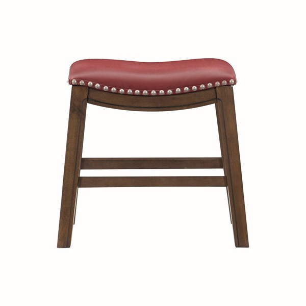 Home Elegance Ordway Red PU Stool HE-5682RED-18