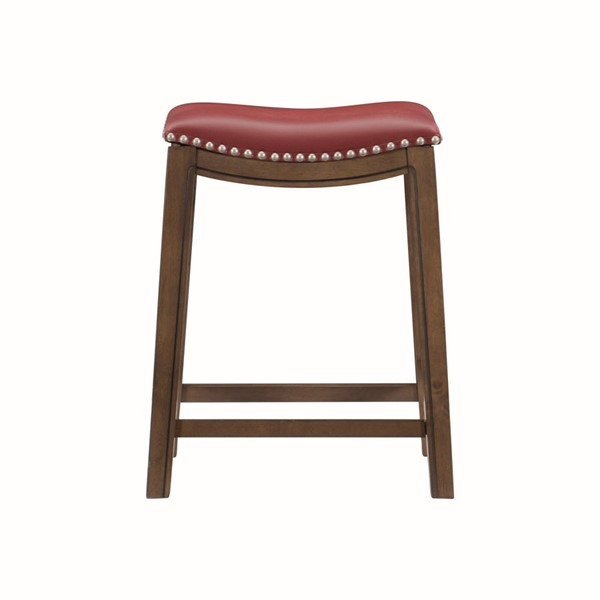Home Elegance Ordway Red PU Counter Height Stool HE-5682RED-24
