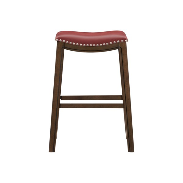 Home Elegance Ordway Red PU Pub Height Stool HE-5682RED-29