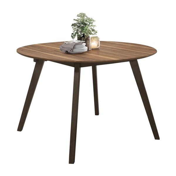 Home Elegance Beane Walnut Espresso Round Dining Table HE-5700-48