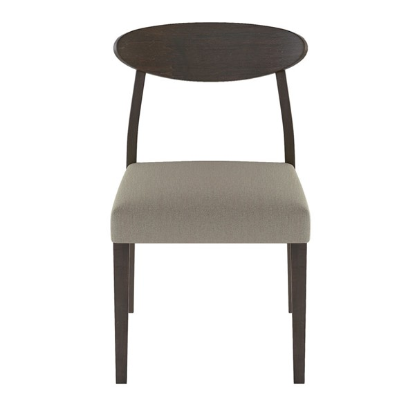 2 Home Elegance Beane Espresso Gray Side Chairs HE-5700S