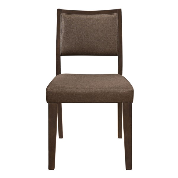 2 Home Elegance Steer Espresso Brown Side Chairs HE-5701S