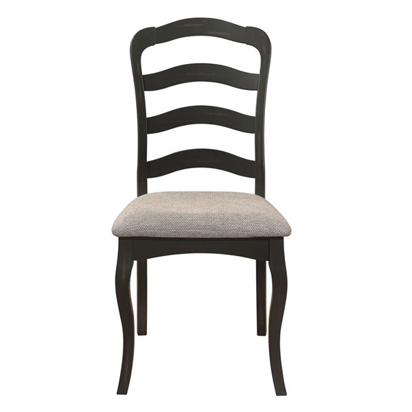 2 Home Elegance Coring Antique Gray Brown Side Chairs HE-5704S