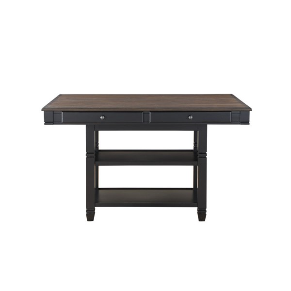 Home Elegance Baywater Natural Black Counter Height Table HE-5705BK-36