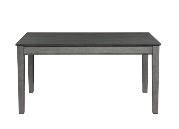 Home Elegance Armhurst Wirebrush Gray Dining Table HE-5706GY-60