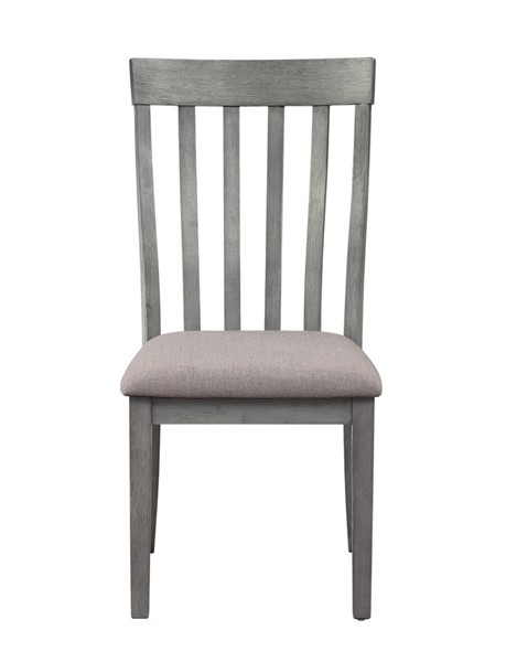 2 Home Elegance Armhurst Wirebrush Gray Side Chairs HE-5706GYS