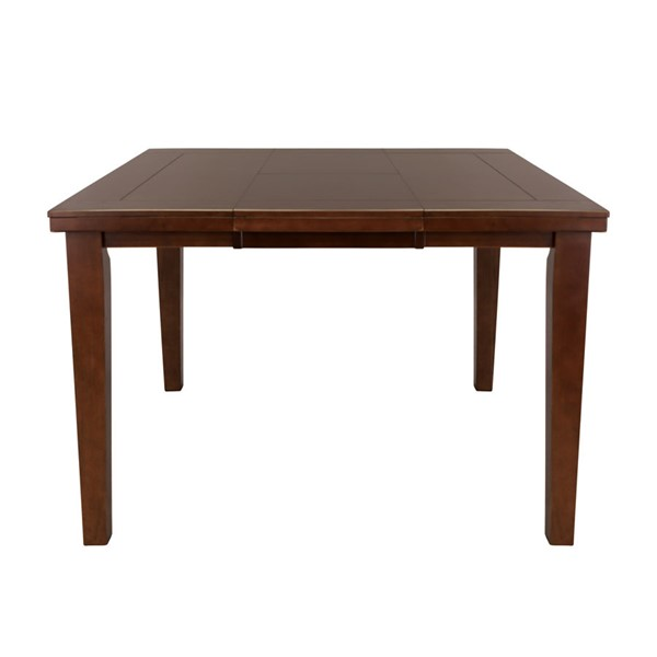 Home Elegance Ameillia Oak Square Counter Height Table HE-586-36