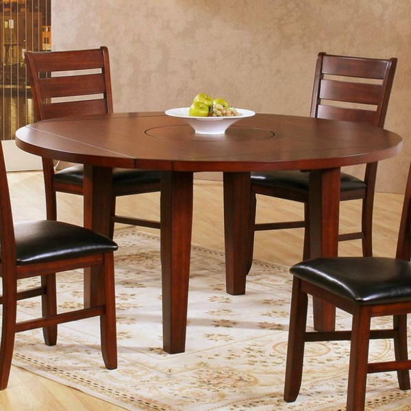 Ameillia Contemporary Dark Oak Wood Birch Vaneer Round Dining Table HE-586-60