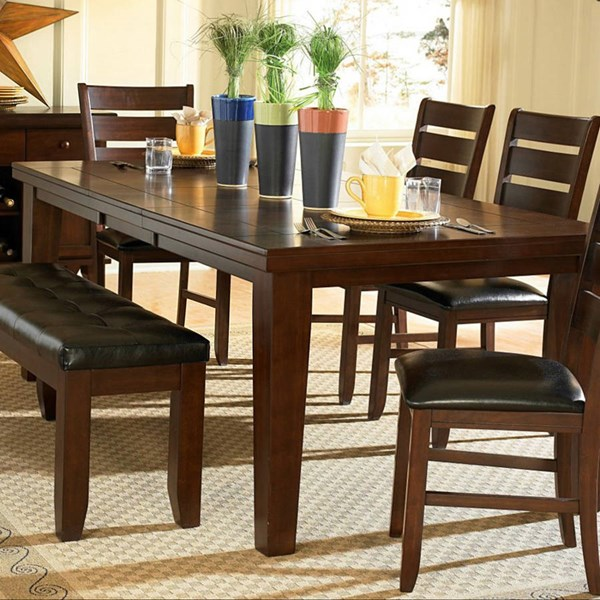 Ameillia Modern Grey Brown Dark Oak Wood Vaneer Rectangle Dining Table HE-586-82