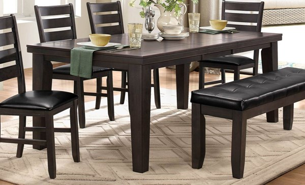 Home Elegance Ameillia Grey Dining Table HE-586GY-82