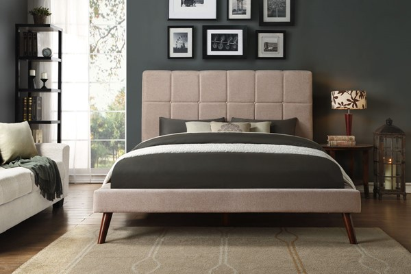Home Elegance Kinsale Beige Brown Beds HE-5875-BEDS