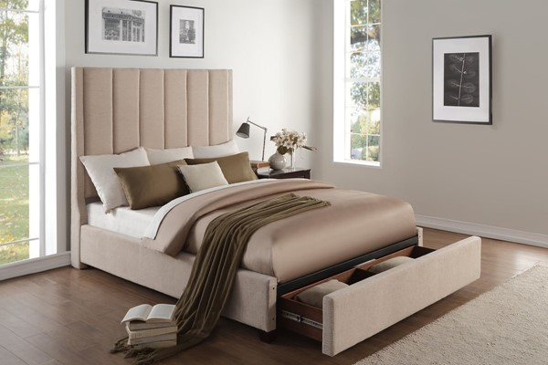 Home Elegance Neunan Beige Brown Storage Beds HE-5876-DW-BEDS