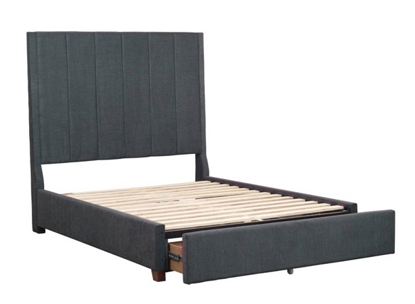 Home Elegance Neunan Dark Gray Queen Storage Bed HE-5876GY-1DW