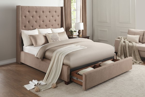 Home Elegance Fairborn Brown Queen Storage Bed HE-5877BR-1DW
