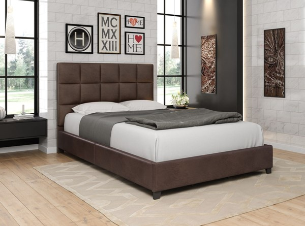 Home Elegance Kaydee Brown Queen Bed HE-5880DB-1